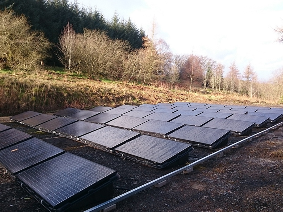 The Clochfaen haselectricity generated from solar panels located on the former Tennis Court