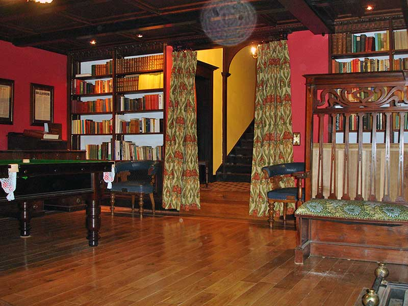 Library and Billiards room